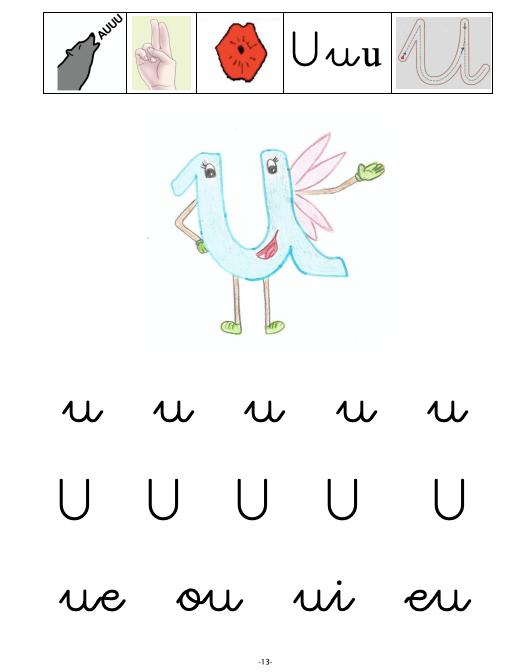 fichas de las vocales