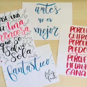cómo hacer lettering