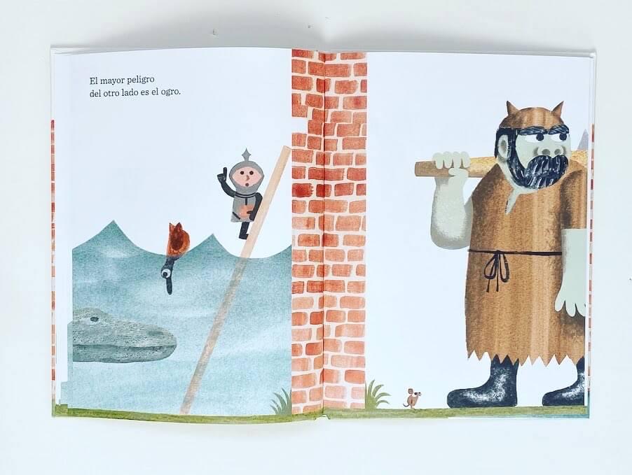 el ogro llega al otro lado del muro