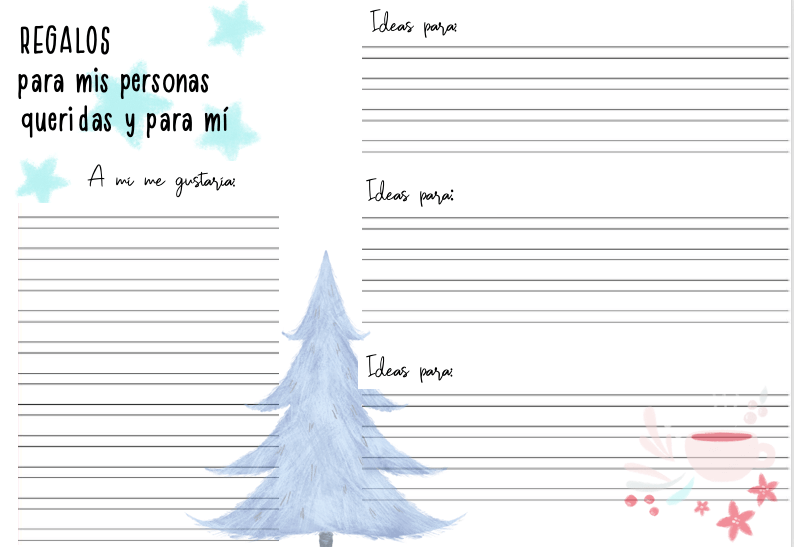 ficha para escribir un regalo especial a tus personas queridas