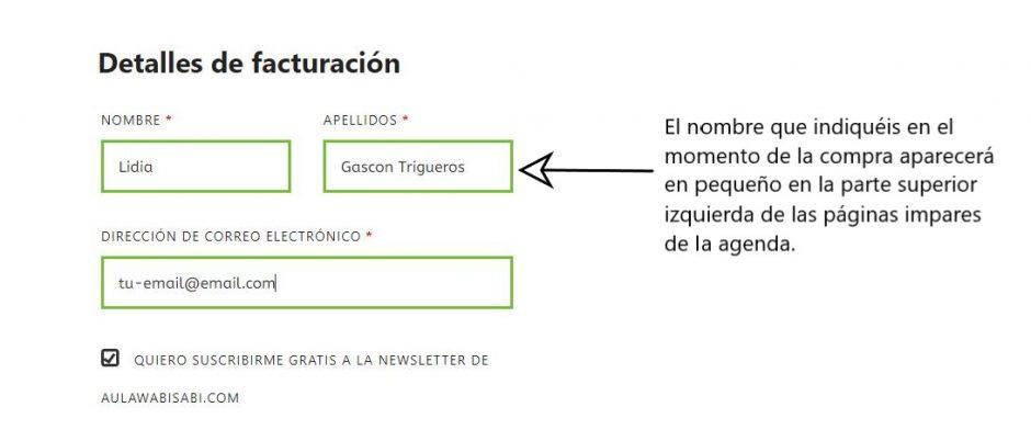 personalización del pdf descargado