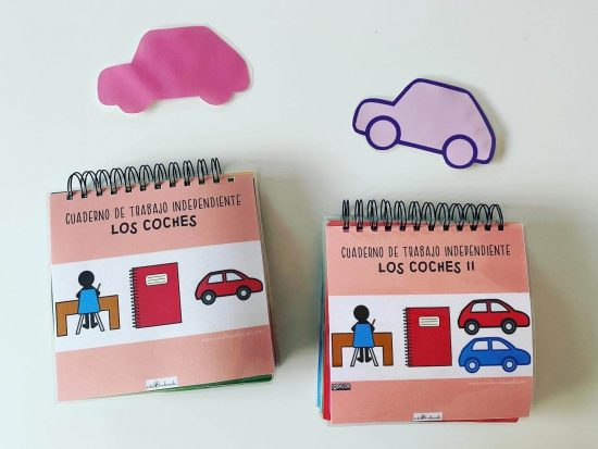 cuaderno teacch coches
